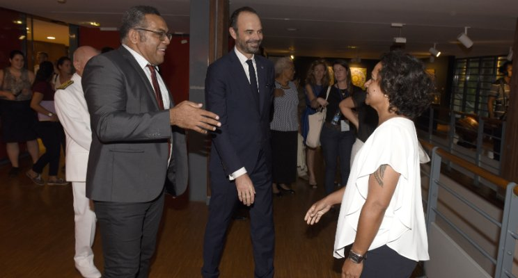 Meeting with the French Prime Minister, Edouard Philippe, at the Tjibaou Cultural Center