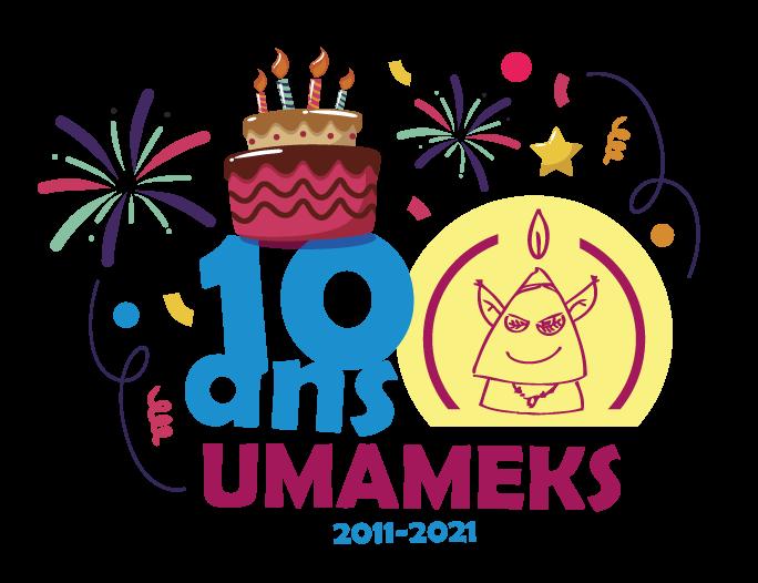 Logo anniversaire 10 ans umameks