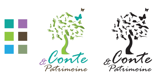 Pdg conte patrimoine logotype